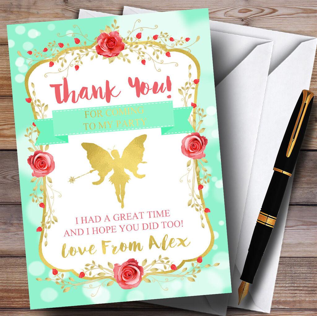 Grün Tinkerbell Pixie Fairy Party Thank You Cards