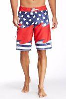Billabong Men's Unified Boardshort Surf Trunk Beachwear Blue Red White Size 33