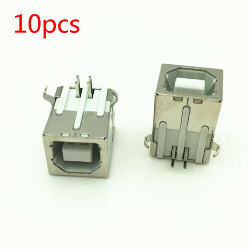 10 pack Printer USB Female Type-B Port 4-Pin Right Angle PCB DIP Jack Socket