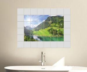 Paesaggio piastrelle adesivo cm immagine riquadro
