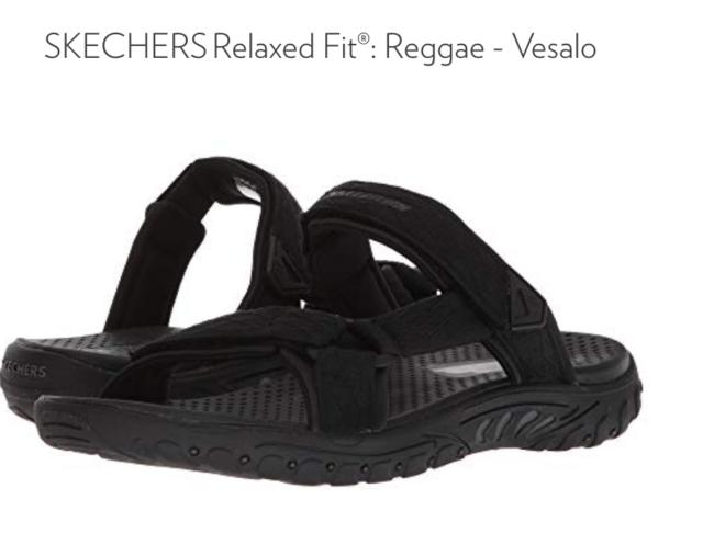 36d9bf6e3dd240 Buy Skechers Reggae Vesalo Black Slide Sandals Mens 12  65465 online ...
