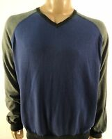 Argyleculture By Russell Simmons $68 Blue Gray Casual V-neck Sweater Sz M