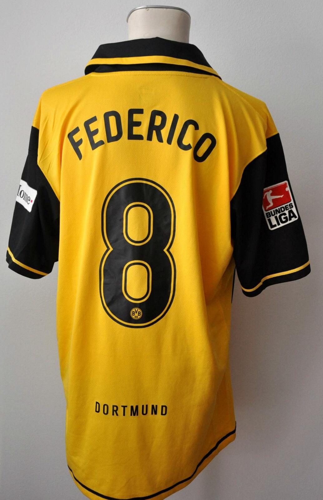 2007-08 Borussia Dortmund BVB Trikot    8 Federico Gr. XL Nike Patch Kult CL 11364e