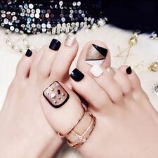 24pcs Fake False Foot Nails Toenails Nail Art Tools Novel Style Nail