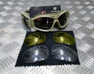 Genuine-British-Army-Issue-Revision-Bullet-Ant-Ballistic-Goggles-BLACK-Version