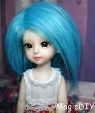 "5-6"" 14cm BJD doll fabric fur wig Sky Blue wig bjd hair for 1/8 bjd dolls"