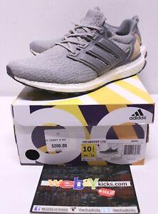 ebf74262b Adidas Ultra Boost LTD Gray Leather Beige White Sneakers Men s Size ...