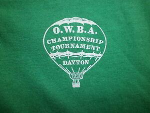 Rationnel Vintage Années 80 90 Owba Ballon à Air Chaud Polo Dayton Ohio 1990 Tournoi Vert Performance Fiable