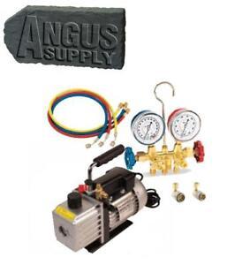 R134a Automotive /& HVAC Vacuum Pump /& AC Gauge Set NEW!