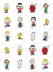 20 Nail Decals Charlie Brown Peanuts Character Asst Water Slide Nail Decals Ebay