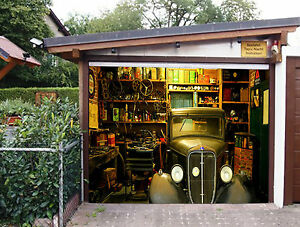 Image Is Loading 3D Car Repair 310 Garage Door Murals Wall