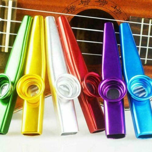 6 Colorful Metal Kazoo A Good Companion For Guitar Ukulele X8L7