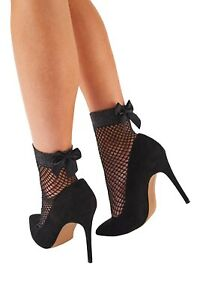 Pretty Polly Sparkly Lurex Fishnet Anklet with Bow One Size - PNAVQ9