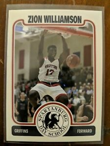 Details About Zion Williamson Spartanburg High School Style Rookie Card Rc Hot