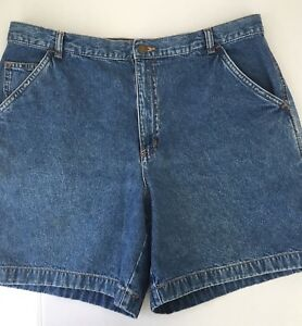 Shorts-Denim-Carpenter-Blue-Size-16-Covington-Pockets-Belt-Loops-Summer-Soft