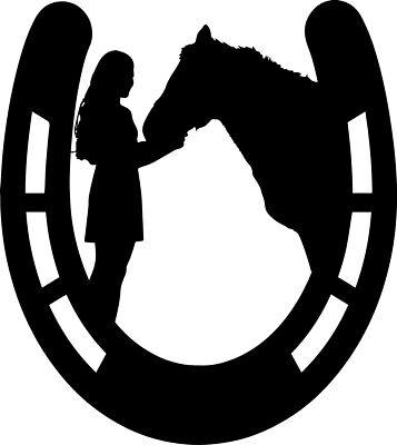 COLORS Love Horse Horseshoe Heart Vinyl Decal Sticker U Pick SIZE /& 20