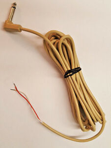 6-35mm-1-4-034-Plug-MONO-Phone-Plug-Unshielded-22ga-15-039-Rt-Angle-Plug-bare-end