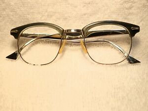 5c8c6b5ae9e5 1950's CLASSIC 12K GOLD SHURON RONSIR FRAME WITH ALUMINUM TEMPLES ...