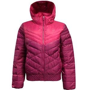Nike Cascade Down 700 Womens Hooded Padded Lightweight Jacket 541410 ... 7d489eff34da