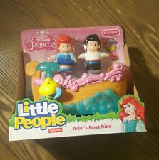 New Fisher-Price Little People Disney Princess Ariel's Boat Ride Toy Bath Toy