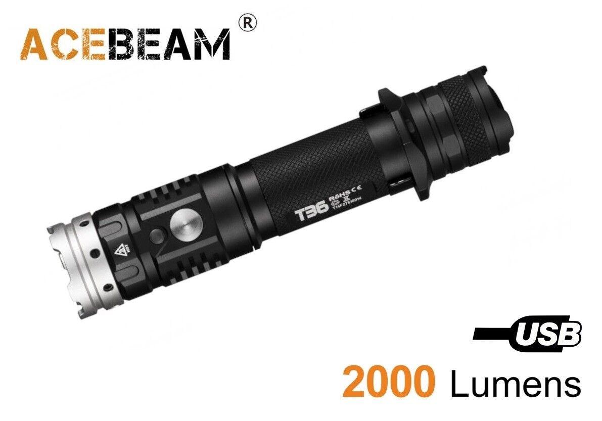 New  AceBeam T36 Cree XHP35 HI 2000Lumens 6500K LED Flashlight ( NO battery )  authentic online