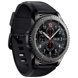 Samsung-Gear-S3-R760-Frontier-grey-Android-Smartwatch-Fitnesstracker-Uhr-WOW