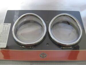 Harley-Davidson-Zusatzscheinwerfer-Zierringe-mit-Schirm-Chrom-69732-05