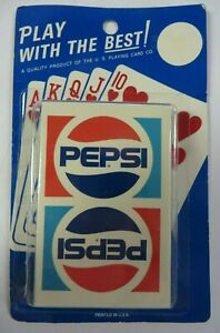 Vintage PEPSI COLA Pretty Lady 1990s Playing Cards Set Poker New /& Sealed