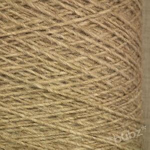 Alpaca Aran Knitting Pattern : ALPACA WOOL YARN ARAN / DK 500g CONE 10 BALL BISCUIT BROWN ...