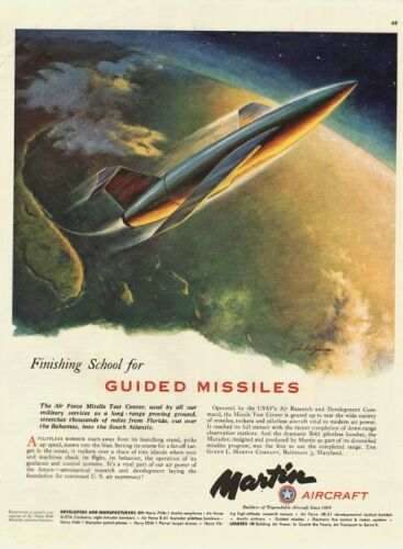 1951 Vintage Ad for Martin Aircraft B61 pilotless bomber 010312