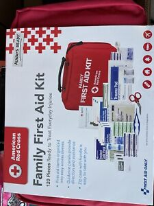 New American Red Cross Family First Aid Kit,120 Piece Everyday Injuries, NEW