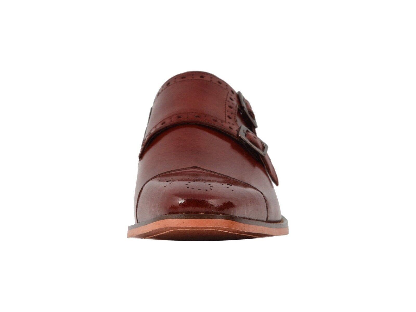 Stacy Adams Tayton Tayton Tayton Men's Cognac Double Monk Strap Cap Toe Dress scarpe 25194-221 91000f