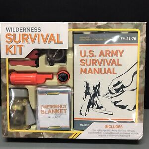 Wilderness Survival Kit, U. S. Army Survival Manual included, New/Opened