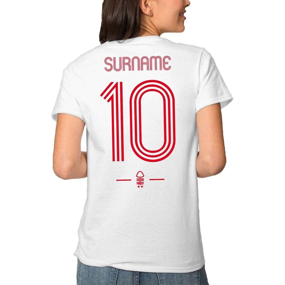 Nottingham Forest F.C - Personalised Ladies T-Shirt (RETRO SHIRT)
