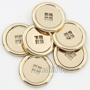 Details about 12PCS New Metal Coat/Blazer/Jacket Sewing Buttons Gold Round  Buttons 4 Holes