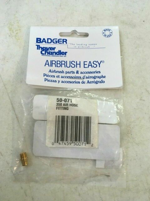 350 Air Hose Fitting 50-071 New 2 Pack Badger Airbrush