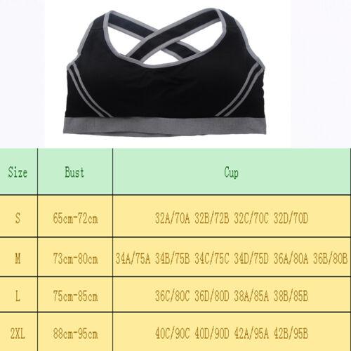 Uk Swim Reggiseno Tops Vest Shapewear Allenamento Yoga che Sport Lady Palestra corrono Crop Donne 7q1ROZ