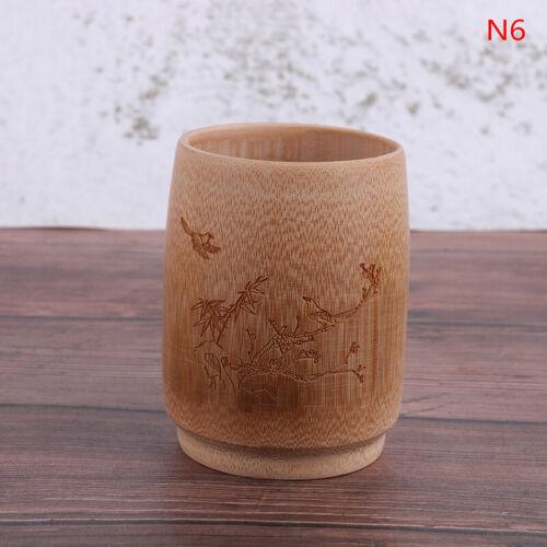 Natural Bamboo Drinking Cup Tea Beer Vintage Coffee Juice Milk CupKTP