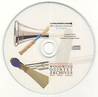 Huge Woodwind Quintet Sheet Music Collection Pdf Cd