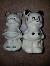 "VINTAGE SET OF MICKEY MOUSE MINNIE MOUSE SALT & PEPPER SHAKERS 3-1/4"" T"