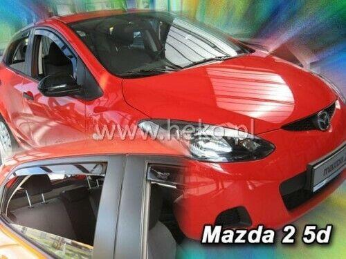 23152 Mazda 2 III de 2009-2014 5 puertas de viento desviadores 4.pc Heko