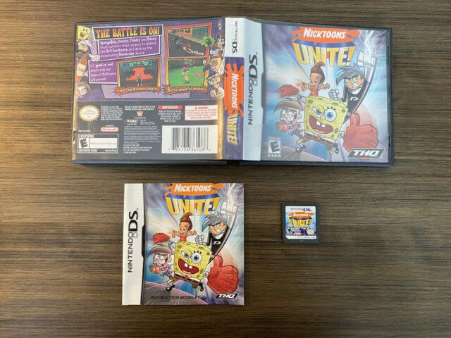 Nintendo DS Nicktoons UNITE! Complete box, booklet, game
