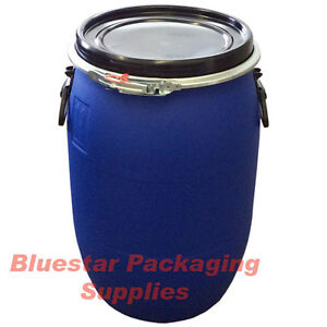 60l Litre Open Top Plastic Storage Drum Barrel Keg With Lid Food Grade