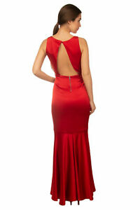 NWT-Alice-Olivia-Red-Satin-Mermaid-Gown-with-Cut-out-Back-RRP-995-Size-0-6
