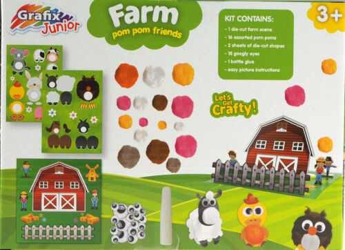 Grafix Make Your Own Farm Pom Pom Animals