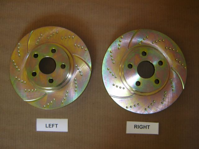 31350DS (FRONT 2pcs) Performance Sport Dimpled Slotted Brake Disc Rotor