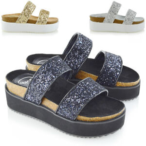 Womens-Platform-Wedge-Heel-Sandals-Ladies-Summer-Holiday-Flat-Two-Strap-Shoes