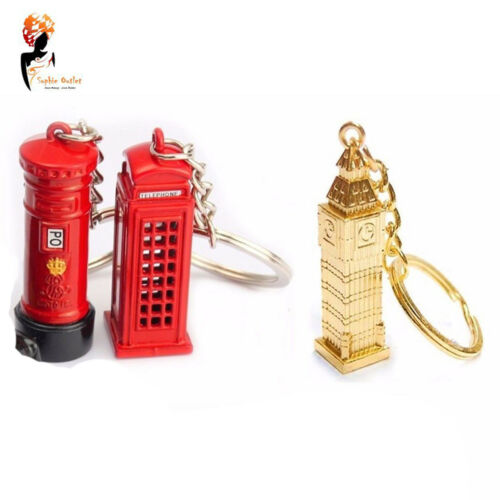 LONDON KEY RINGS KEY CHAINS SOUVENIRS KEY RINGS BIG BEN POST BOX TAXI LETTERBOX