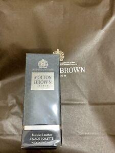 MOLTON-BROWN-RUSSIAN-Cuero-Eau-de-Toilette-50ml-Edt-Perfume-Xmas-Gift-BN-NUEVO