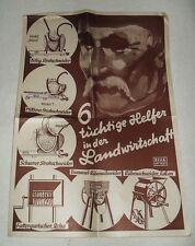 2 vecchie fogli pubblicitari-delle brave aiutante in agricoltura-per 1938-riabilitazione